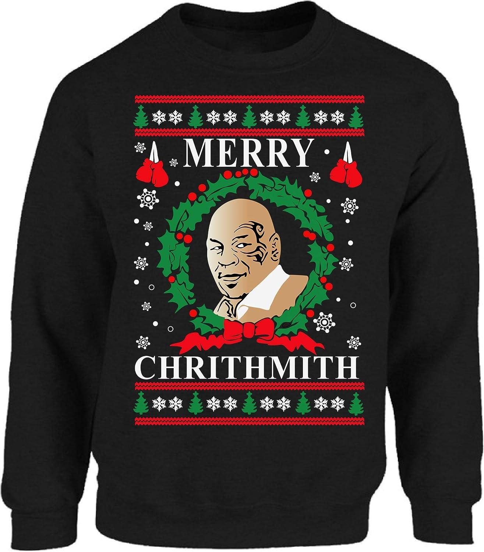 Vizor Merry Chrithmith Christmas Sweatshirt Mike Tyson Ugly Christmas Sweater