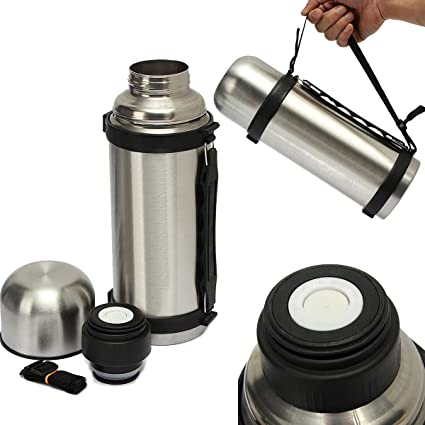 1086537140 Image Unavailable. Image not available for. Color: Vacuum Thermos Stainless  Steel 32-ounce Portable Insulated Coffee Soup Bottle ...