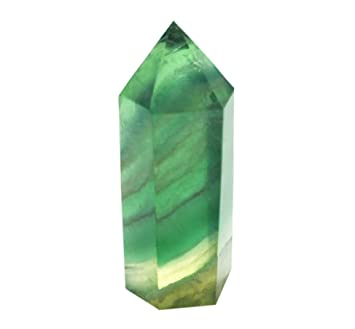 Green Fluorite Healing Crystal Wands, Pointed & Faceted for Reiki Chakra  Meditation Therapy Decor (1-pcs L Size)