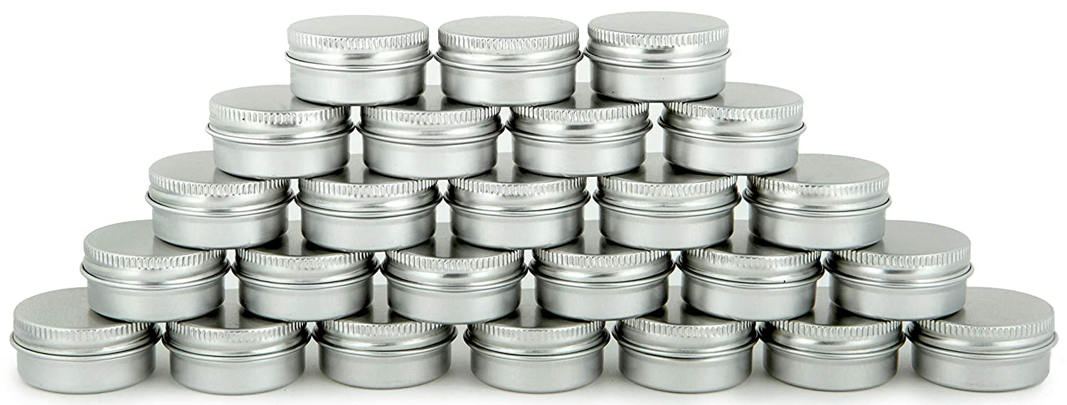 Vivaplex, 25, Aluminum, 10 Gram, Tin Jars with Lids