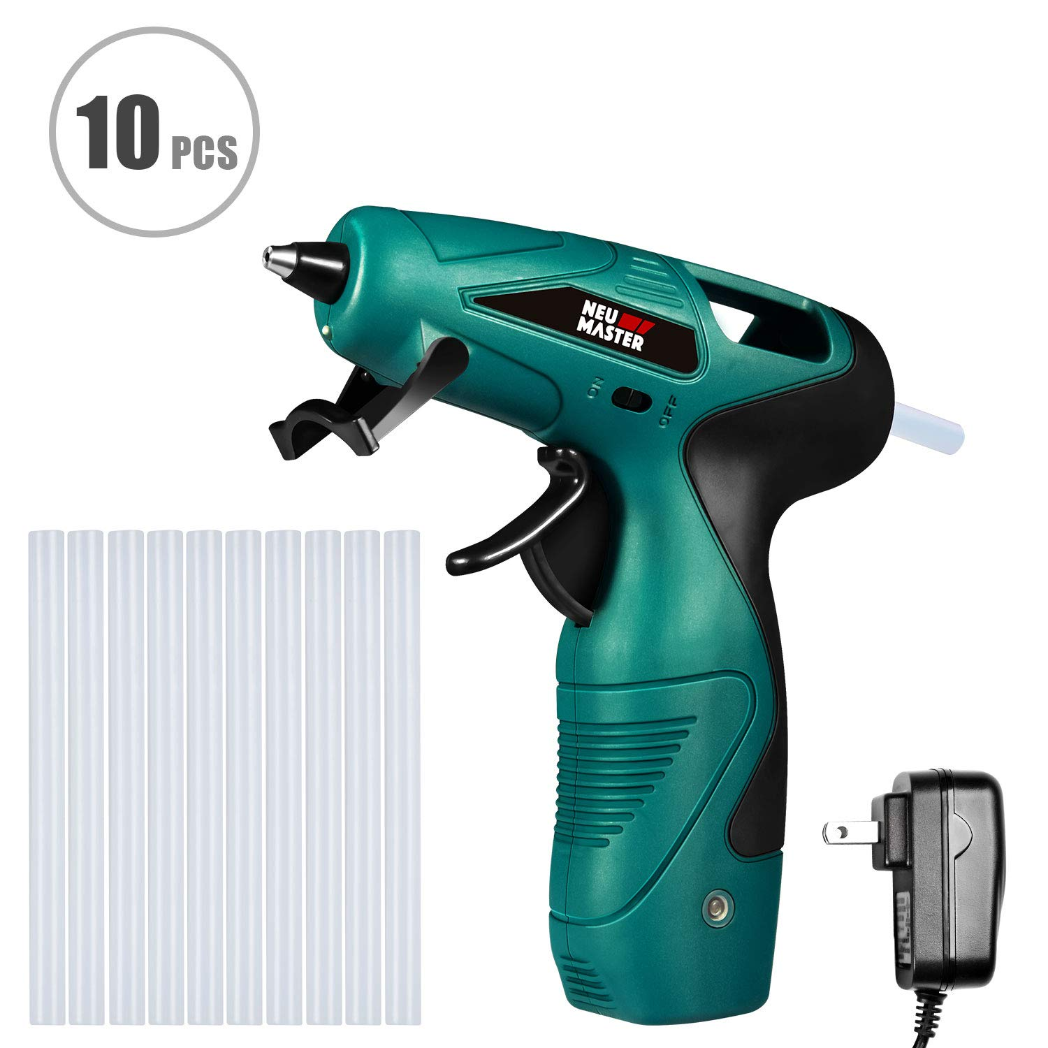 Hot Glue Gun,Cordless Mini Glue Gun Kit with 10pcs Glue Sticks for DIY Small Craft Projects & Sealing,Arts, Craft in Home or School and Quick Repairs by NEU Master