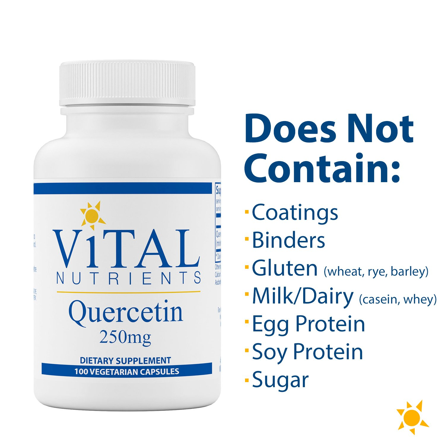 Amazon.com: Vital Nutrients - Quercetin 250 mg - Respiratory & Sinus Support - 100 Vegetarian Capsules: Health & Personal Care