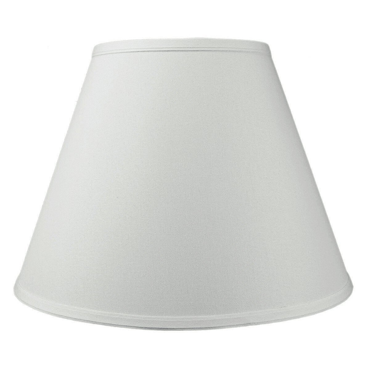 8x16x12 Hard Back Empire Lampshade White with Brass Spider fitter By Home Concept - Perfect for table lamps and some desk lamps -Medium, White