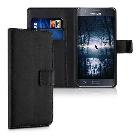 kwmobile 34804.01 Funda para teléfono móvil Funda Cartera Negro - Fundas para teléfonos móviles (Funda Cartera, Samsung, Galaxy J5 (2015), Negro)