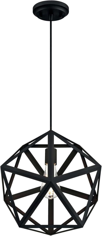 Westinghouse Lighting 6355900 One-Light Indoor, Matte Black Finish PENDANT,