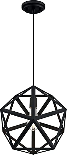 Westinghouse Lighting 6355900 One-Light Indoor, Matte Black Finish PENDANT