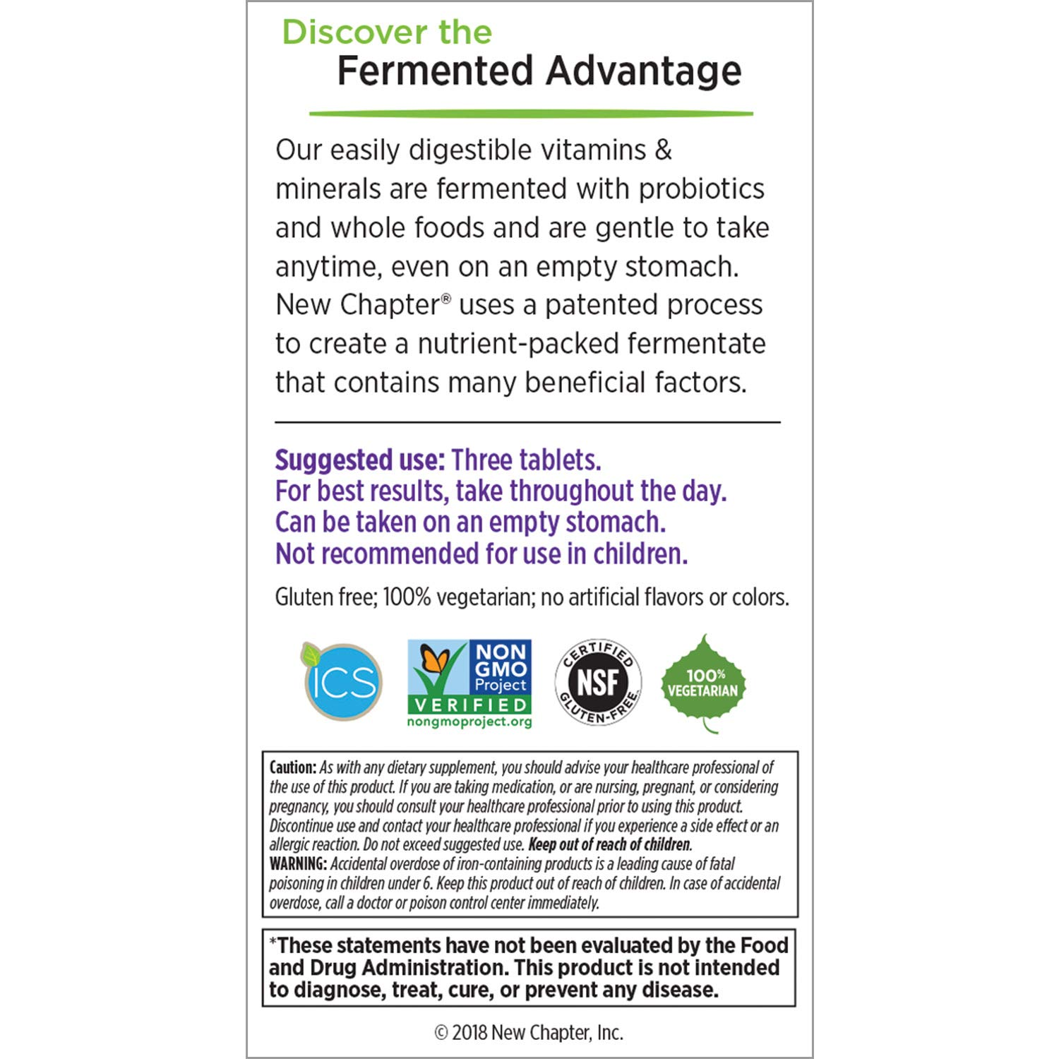 New Chapter Perfect Prenatal Vitamins, 270 ct, Organic Non-GMO Ingredients - Eases Morning Sickness with Ginger, Best Prenatal Vitamins Fermented with Wholefoods for Mom & Baby - (Packaging May Vary) by New Chapter (Image #11)