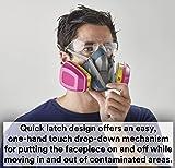 3M Rugged Comfort Quick Latch Half Facepiece