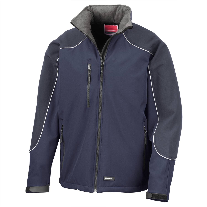 Result Ice fell hooded softshell jacket - Grey / Black - L