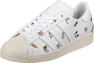 finest selection f557a b7b61 adidas Damen Superstar 80S W Fitnessschuhe, Weiß (FtwblaFtwbla  Casbla),