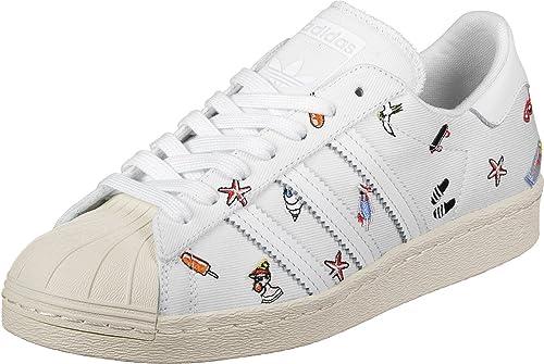 adidas Superstar 80S W, Zapatillas de Deporte para Mujer, Blanco Ftwbla/Casbla, 43 1/3 EU: Amazon.es: Zapatos y complementos