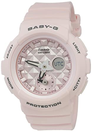 ab2fa1ddd3e1 Image Unavailable. Baby-G Pastel Pink Analogue and Digital Series Ladies  Watch ...