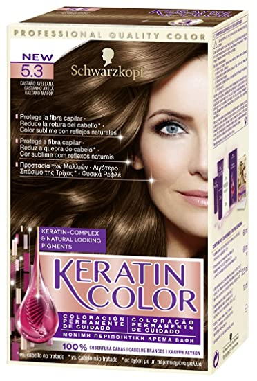 Schwarzkopf KERATIN COLOR Professional Quality Permanent Color Hair Dye Tono 5.3
