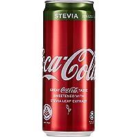 Coca-Cola Coke Stevia Healthier Choice Cans, 320ml, (Pack of 12)
