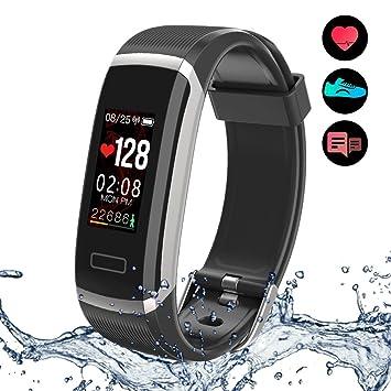 Yakuin Pulsera de Actividad, Inteligente Impermeable IP67 Monitores de Actividad, Fitness Tracker, Podómetros