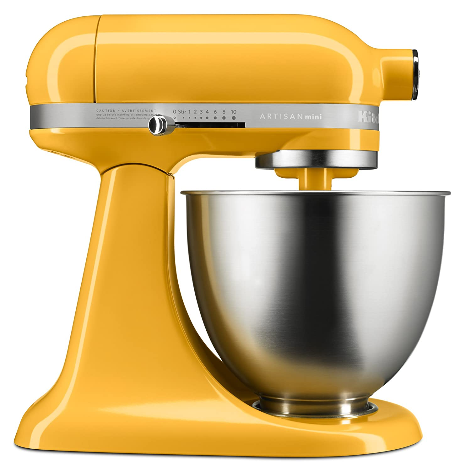 KitchenAid KSM3311XBF Artisan Mini Series Tilt-Head Stand Mixer, Orange Sorbet, 3.5 quart
