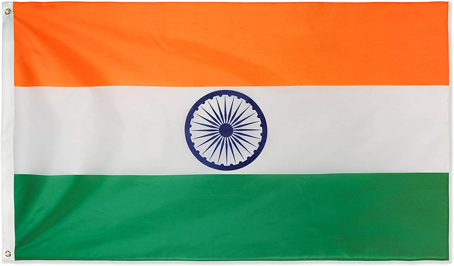 India Indian Flag 3x5 Polyester Indoor Outdoor Flag National Country Banner