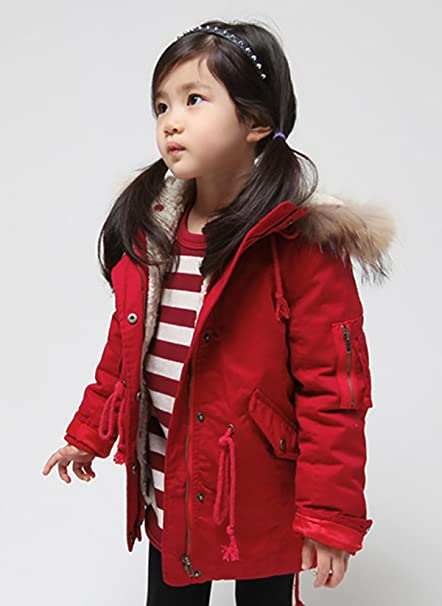 db04fe100 Lemonkids Children Girls Chic Hooded Winter Anoraks Wadded Outfit ...