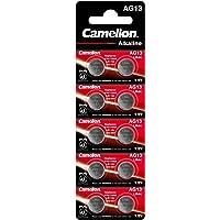 Camelion 12051013 alkaline knoopcellen zonder kwik AG13/LR44/LR1154/357, 1,5 volt, pak van 10
