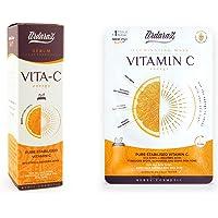 Ardaraz – Vitamin C Serum för ansiktet + Ansiktsmask Återfuktande Upplysande tar bort Mörka Fläckar innehåller Vitamin C…