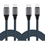 Sundix USB C to Lightning Cable, 2Pack 6FT Nylon Braided Charging Syncing Cord Compatible with iPhone 11/11Pro/11Pro MAX…