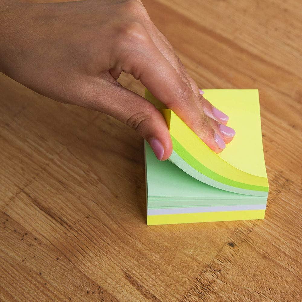 D.RECT 110624 Lot de 6 blocs de 400 feuilles de papier adh/ésif Motif fruits de citron 75 x 75 mm