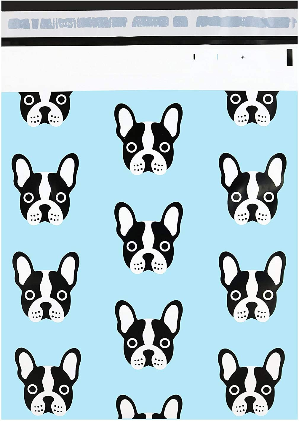 """Pack It Chic - 10"""" X 13"""" (100 Pack) Frenchie Dog Poly Mailer Envelope Plastic Custom Mailing & Shipping Bags - Self Seal"""