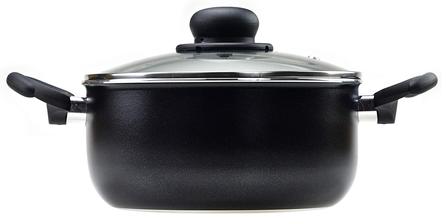 RAVELLI Italia Linea 30 Non Stick Dutch Oven with Glass Lid (2 Quart)