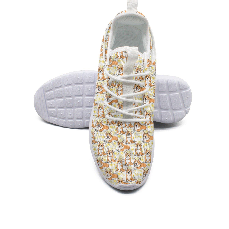 Ether Dobbin Women's Funny Corgi Dog Elastic Lightweight Running Shoes Breathable Mesh Walking Sneakers by Ether Dobbin (Image #1)