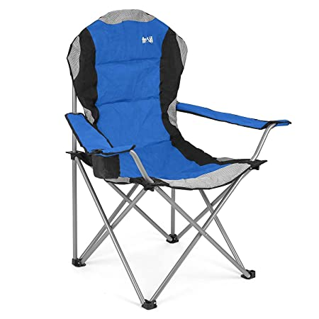luxury padded folding camping chair heavy duty high back directors