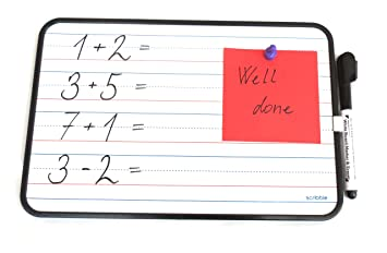 Scribble Mini Pizarra blanca magnética de doble cara de ...