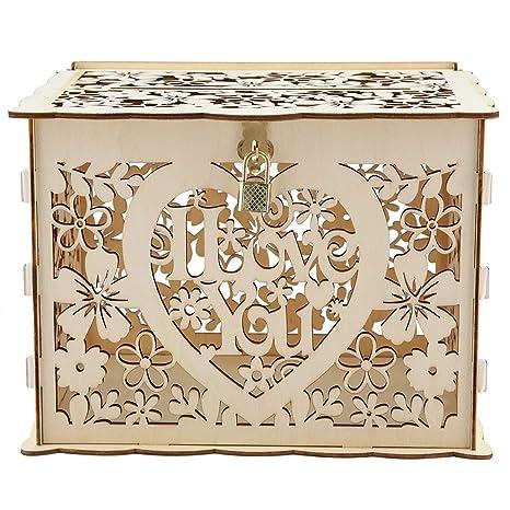 Amazon.com: Caja hueca para regalo de tarjetas con llaves ...