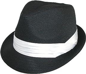 5e4cfeea Kenny K Men's Wedding Dress Formal Fedora Hat Black