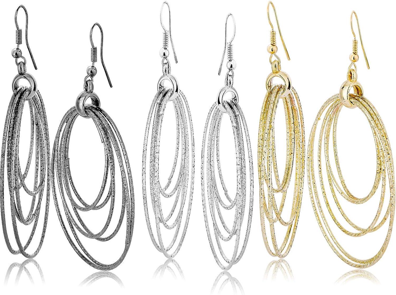 Gift for Women Medium Diamond Gunmetal Filigree Chandelier Earrings
