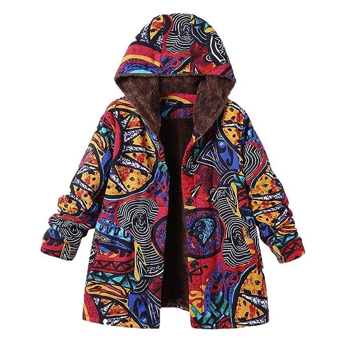 Abrigo para Mujer Elegantes K-Youth ✿ Chaquetas Mujer Invierno Talla Grande Estilo Nacional Vintage Impresión Sudaderas Mujer Capucha Abrigos Mujer Outwear ...