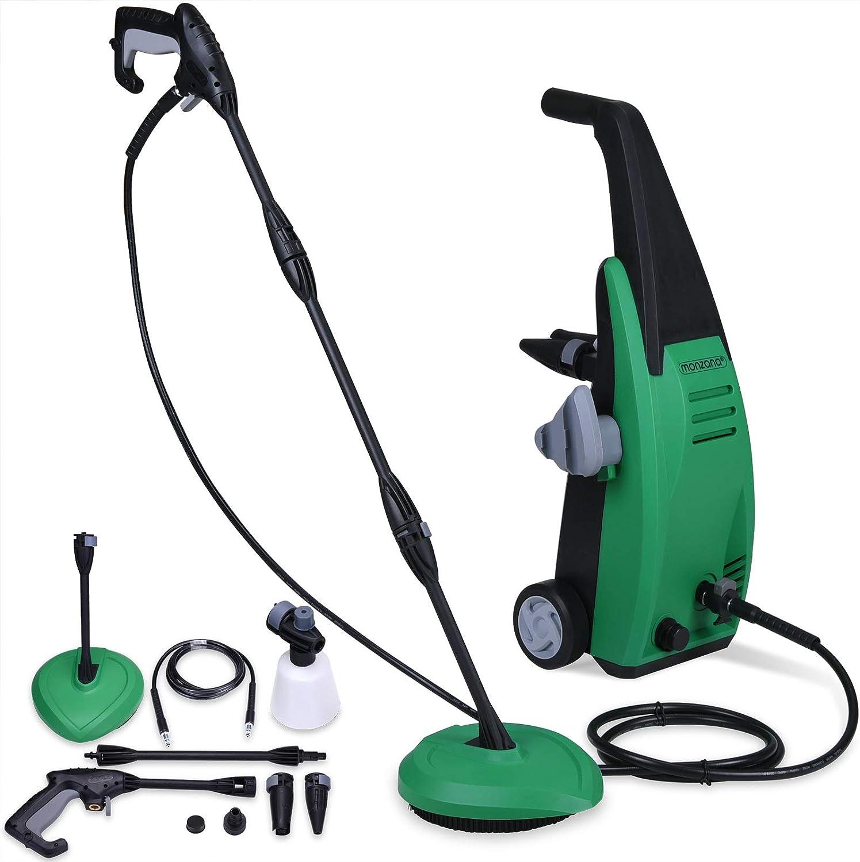 Monzana Hidrolimpiadora de alta presión para su casa jardín con accesorios y bomba limpieza mantenimiento exterior