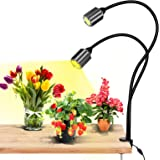 LED Plant Grow Lights Full Spectrum for Indoor Plants with Timer.Dual Head Adjustable Gooseneck Grow Lamp ODOM 75W COB Alumin