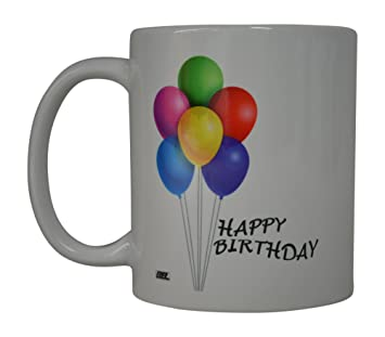 Best Coffee Mug Happy Birthday Balloons Novelty Cup Great Gift Idea Present For Men Or Women