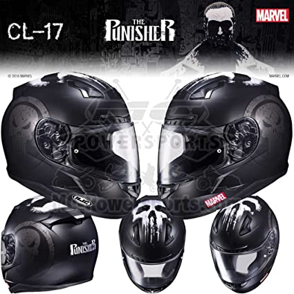 HJC Marvel The Punisher CL-17 Mens Street Bike Motorcycle Helmet - MC-5F