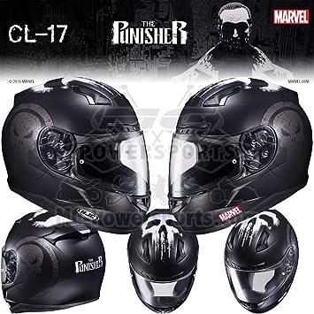 HJC Marvel The Punisher CL-17 Mens Street Bike Motorcycle Helmet - MC-5F