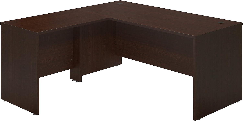 Bush Business Furniture Series C Elite 66W x 30D Desk Shell with 36W Return in Mocha Cherry