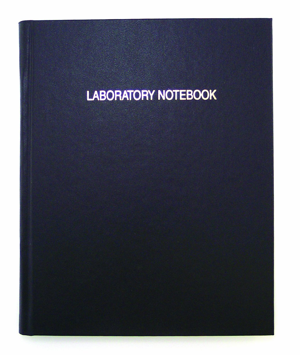 Thomas TSCILIRPE120LKG Grid Laboratory Notebook, Black Imitation Leather Cover, 120 Pages, 11'' Length x 8-7/8'' Width (Case of 10)