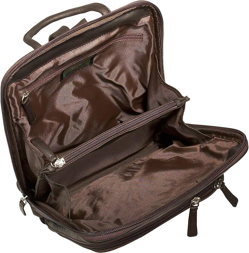 Osgoode Marley Cashmere Large Organizer Backpack Brandy