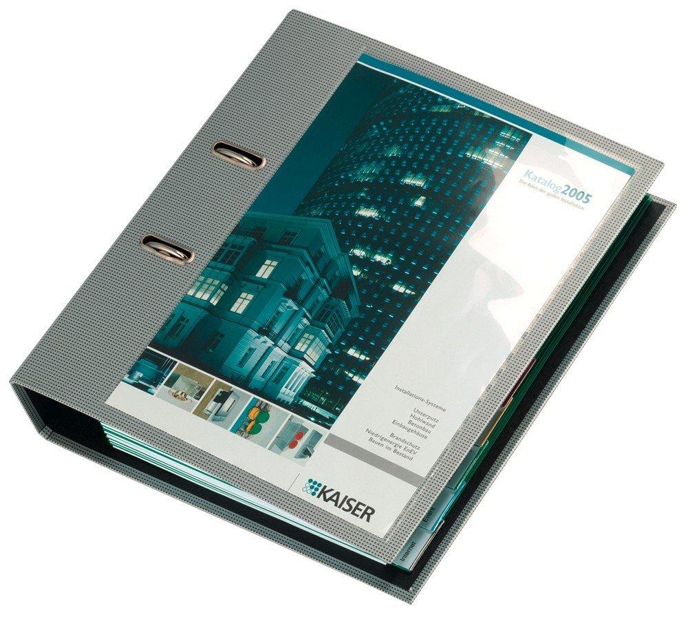 tasca adesiva con inserto in cartoncino per cataloghi trasparente Pocketfix confezione da 10 pezzi portalistini DURABLE 807519 154x62 mm