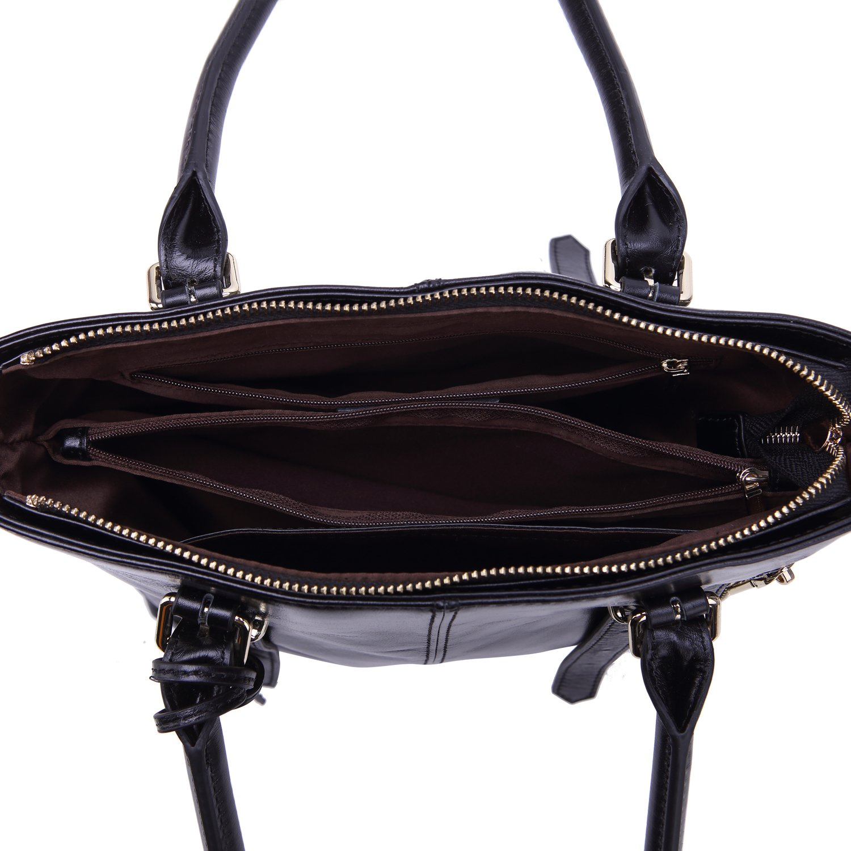 Yafeige Womens Leather Shoulder Handbags Satchel Tote Top Handle Bags Crossbody Handbag Purse for Ladies(Black) by Yafeige (Image #6)