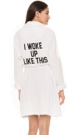 Private Party Women\'s I Woke up Like This Robe, White, One Size at ...