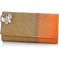 Butterflies Women's Wallet (Beige) (BNS 2391BG)