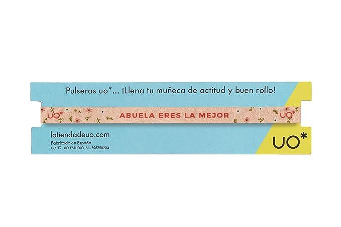 UO Pulsera Estampado S/úper Abuela Color Coral