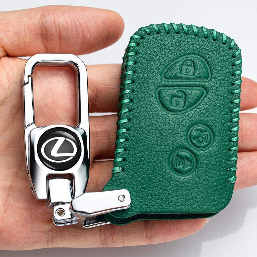 Car Key fob Cover Key case for Lexus Genuine Leather Protector Keychain is300 is250es300 es330 es350 rx350 rx300 gx470 gx460 ls460 gs300 gs400 gs350 nx gx Key fob Cover Key Holder