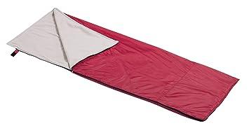 Wenzel - Saco de dormir (interior con forro polar), color rojo